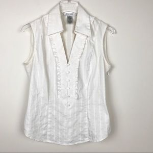 Nine West White Top Size 6
